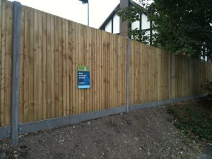 Closeboard fencing with concrete posts and gravel boards to help extend the life of the fence