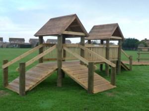 Play tower playground equipment
