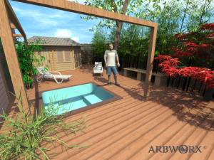 3D garden design in Brighton