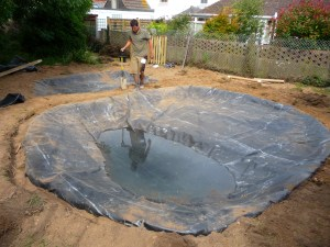 Creating a nature pond area for a primary school in Selsey