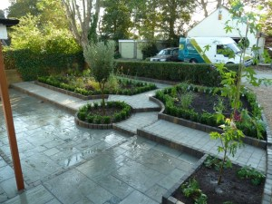 Arbworx : Marshalls Fairstone Paving with Planting from Big Plant Nursery