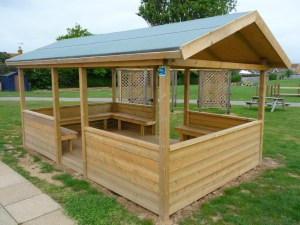 timber shelter ready for use