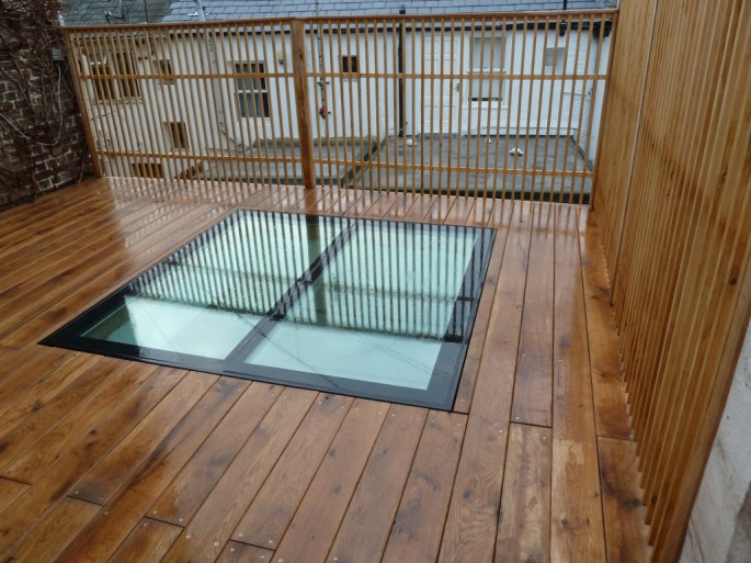 Arbworx roof terrace deck with oak decking