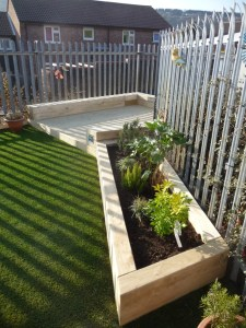 Soft planting area with story telling deck