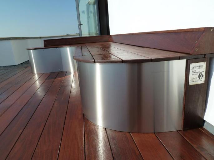 Ipe hardwood decking roof terrace, Arbworx, Sussex (4)