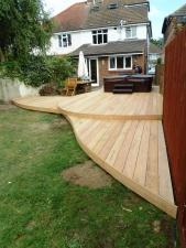 Arbworx 'waveform' Garapa hardwood deck