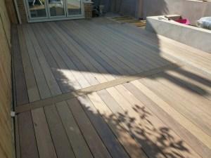 Ipe hardwood deck unoiled