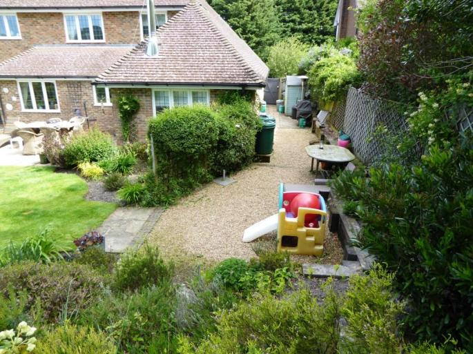 large gravel areas with high maintenance borders