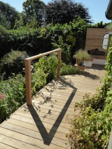 Oak decking in Hove, Sussex