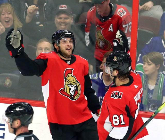 N J S Bobby Ryan Scores Hat Trick In Return To Ottawa Senators