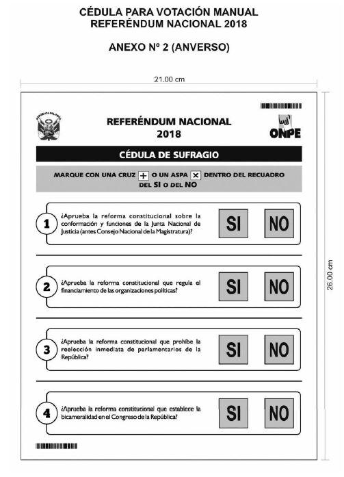 Referéndum 2018: dónde votar, las cuatro preguntas y todo sobre la consulta  popular | PERU | GESTIÓN