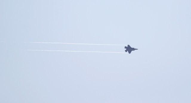 Parte de las maniobras de combate que se entrenaron ayer en la Base Aérea Hill de Utah (Reuters)