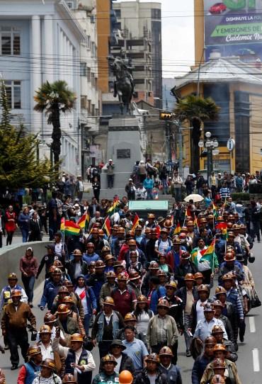 Seguidores de Evo Morales se movilizaron en La Paz (REUTERS/David Mercado)