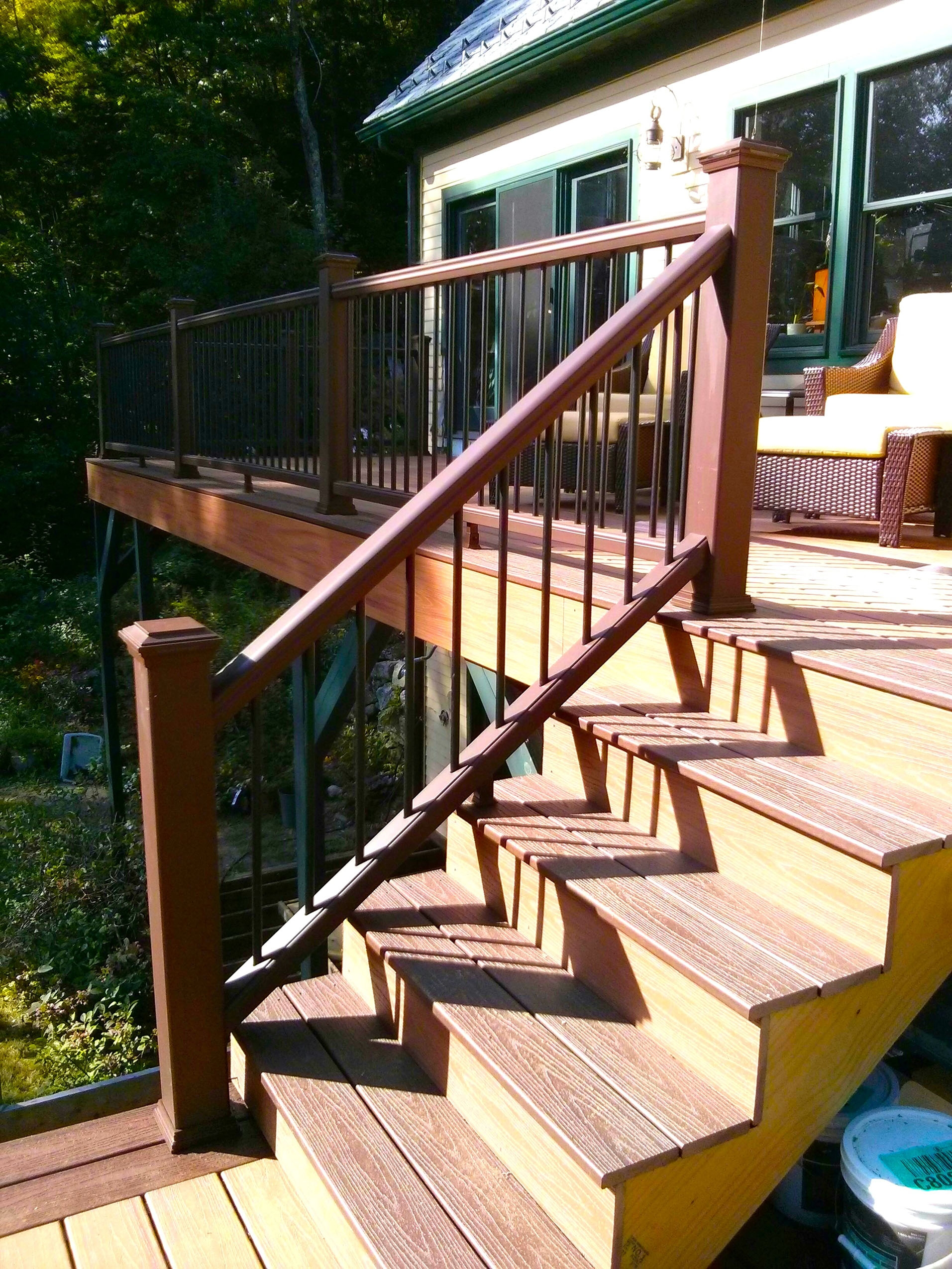 How To Build A Railing For Deck Stairs The Washington Post | Installing Deck Stair Railing | Outdoor Stair | Baluster | Railing Ideas | Stair Treads | Stair Stringers