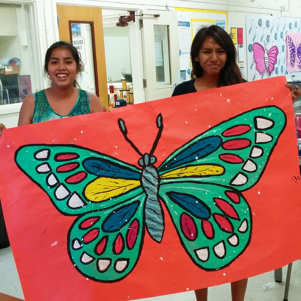1602-Garfield-Butterfly-Painting