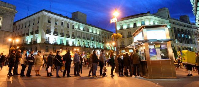 Cola para comprar lotería en Madrid/Foto: Jesús G. Feria