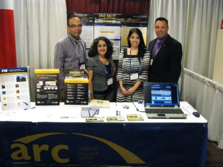 ARC Booth at DD&R 2012. From left, Himanshu Upadhyay, Elise, Lillian and Dr. Leonel Lagos