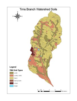 Tims Branch Watershed Soils