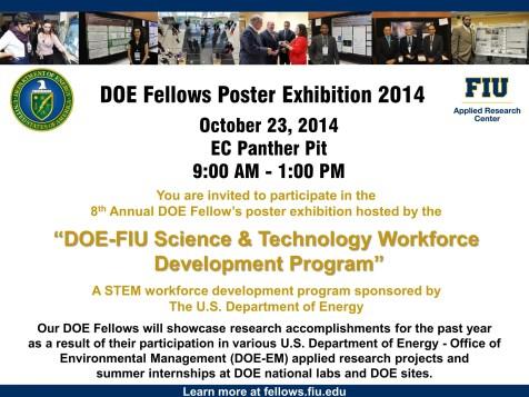 DOE Fellows Poster Exhibition 2014
