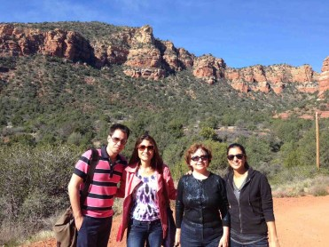 ARC staff & student enjoying a sunny day in Sedona, AZ
