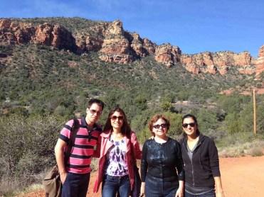 ARC staff & student enjoying a sunny day in Sedona, AZ