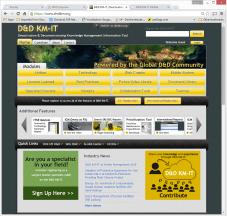 D&D KM-IT web application
