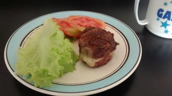 Hambúrguer caseiro para crianças