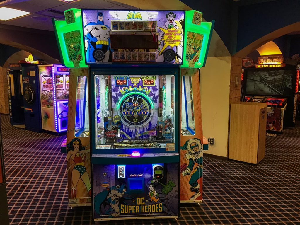 Image of DC Comics Super Heroes Coin Pusher Arcade Game