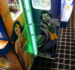 Close up of dc coin pusher cabinet