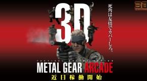 Konami's Metal Gear Arcade coming next week