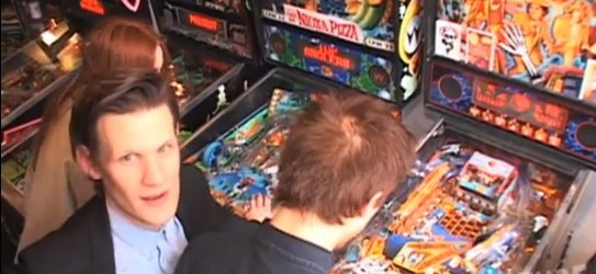 Current Doctor Who cast plays some Doctor Who Pinball