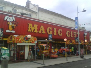 Magic City arcade in Clacton-on-Sea, UK