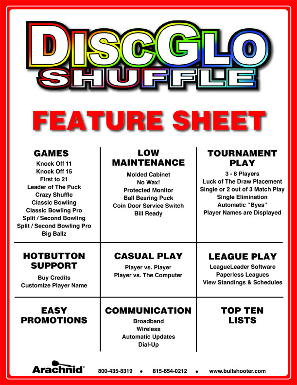 DisGlo FeatureSheet