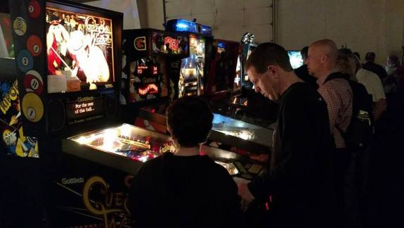 Recbar setup some games at the recent Louisville Arcade Expo, March 2016