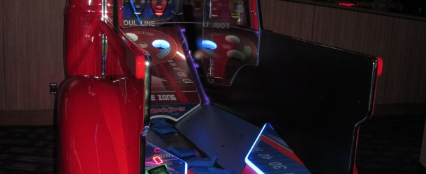 New Redemption Game Tailgate Toss by ICE testing at Buffalo, NY Dave & Busters