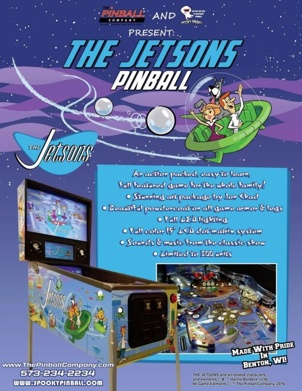 The Jetsons Pinball Flyer
