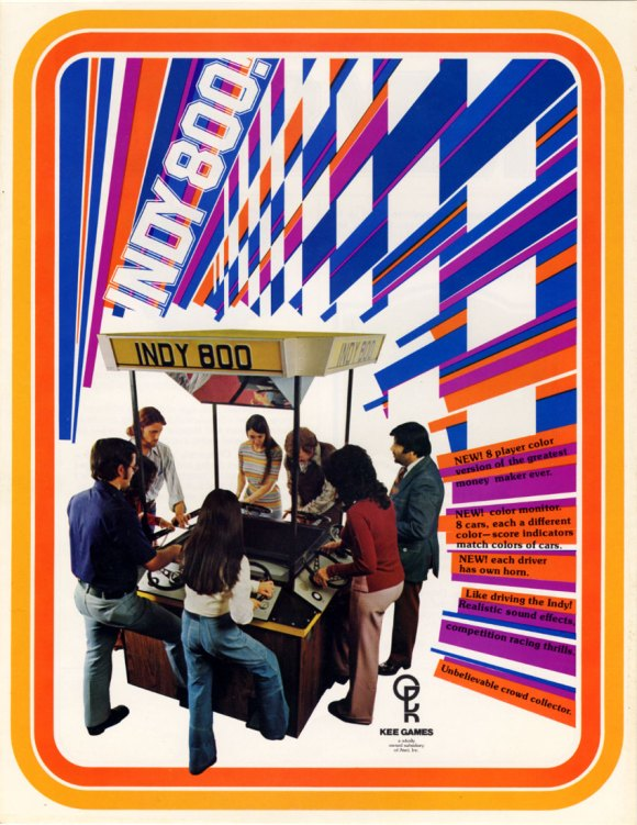Atari Indy 800 game flyer
