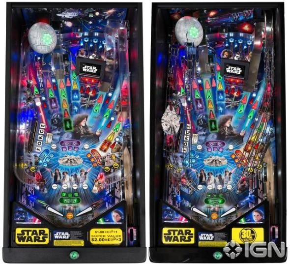 Stern Star Wars Pinball Playfields