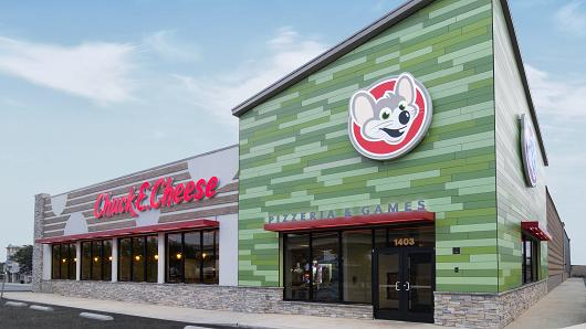 Chuck E. Cheeses re-brands
