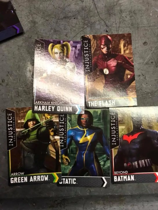 Injustice Arcade cards