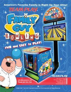 Family Guy Bowling IAAPA 2017 Flyer by Team Play Inc.