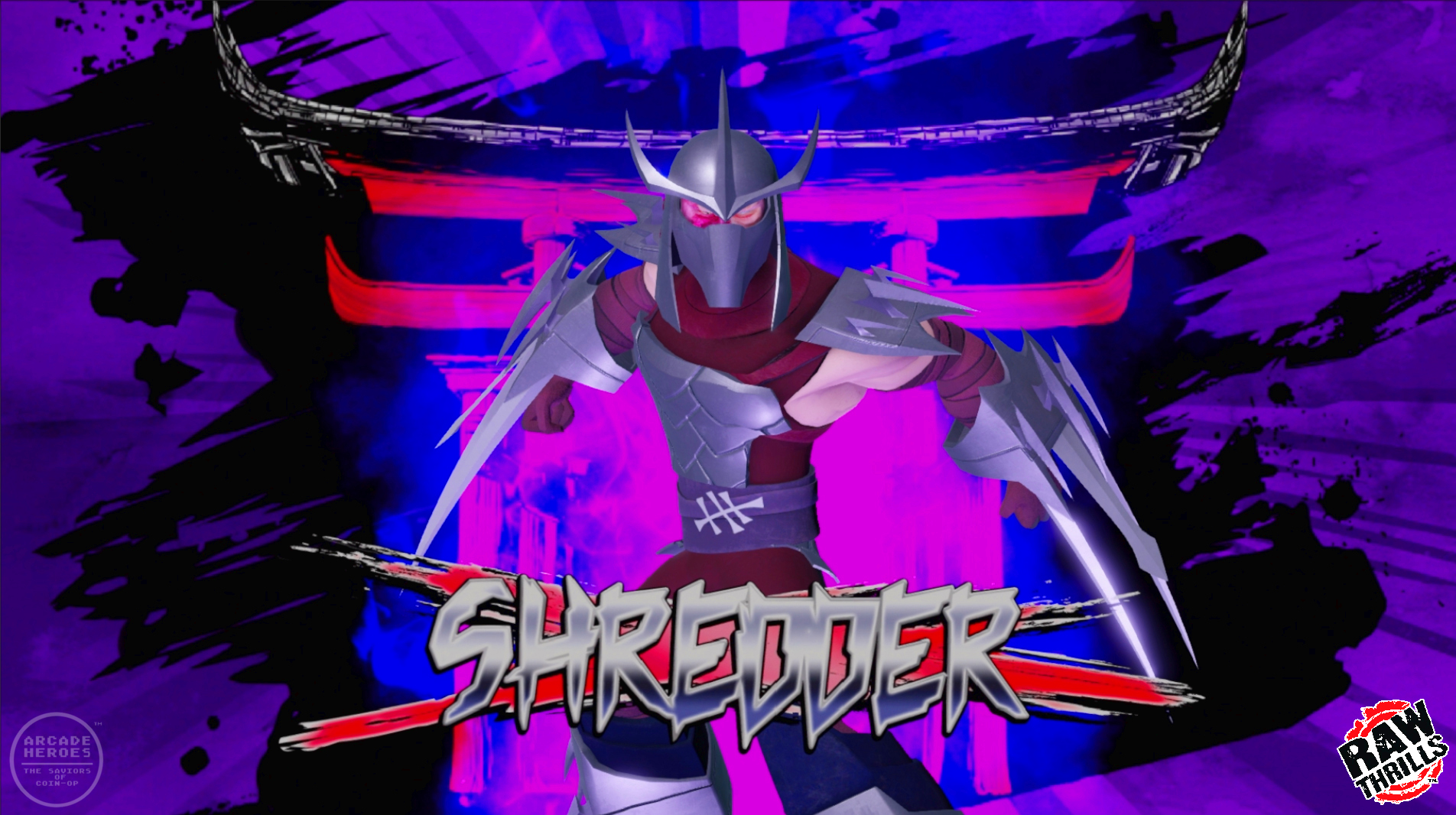 Shredder splash screen, TMNT arcade