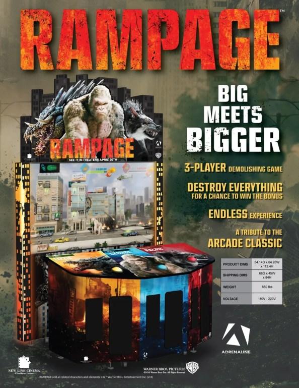 Rampage arcade flyer