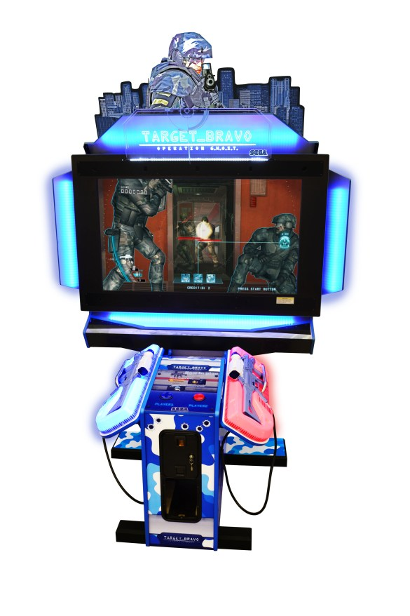 "Target Bravo: Operation GHOST 43"" upright model by Sega Amusements"