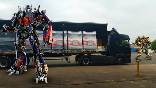 Transformers Shadows Rising on a truck