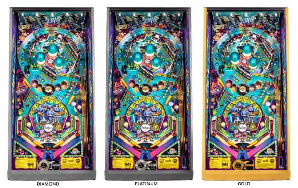 The Beatles pinball playfields