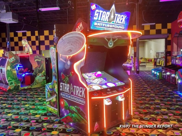 Star Trek Battleground location test arcade cabinet
