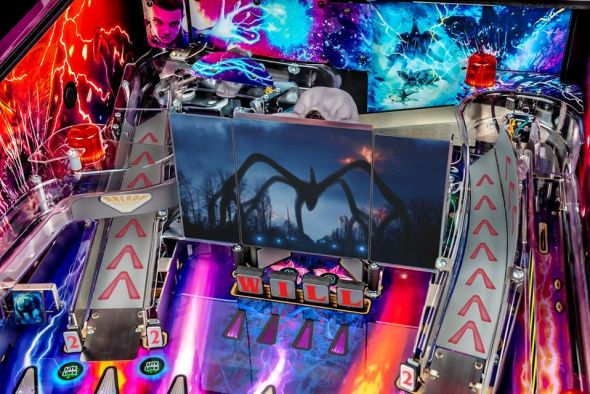 Stranger Things pinball playfield detail