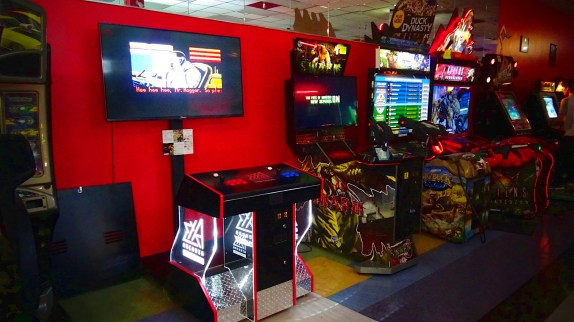Custom made Exa-Arcadia cabinet at Arcade Galactic