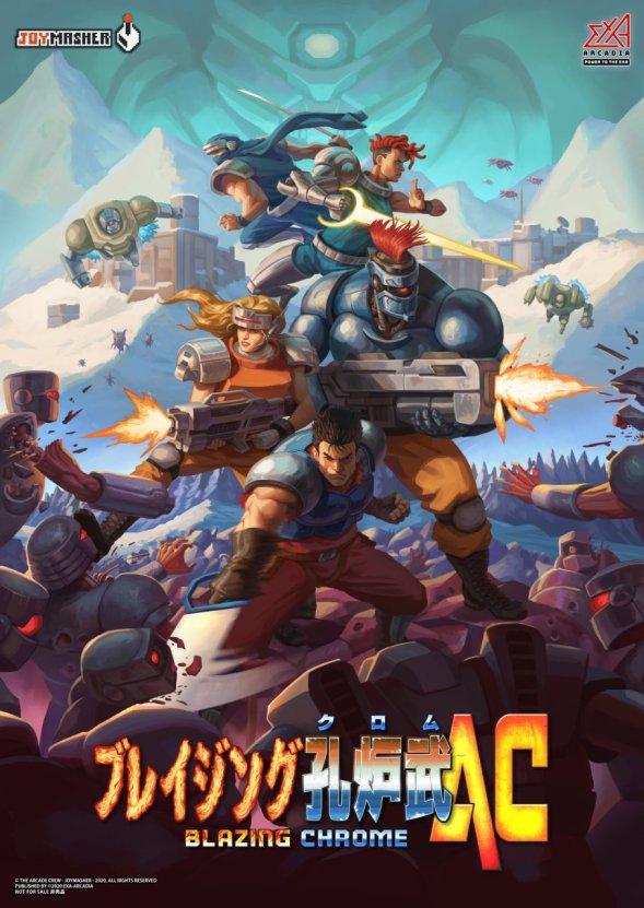 Blazing Chrome Arcade poster by Joymasher